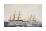 The Tea Clippers Taeping (Left) and Ariel (Right) in the Great Tea Race of 1866 Giclee Print by Thomas Goldsworth Dutton