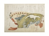 Two Fans, C. 1820 Giclee Print by Teisai Hokuba