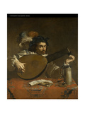 The Lute Player Giclee Print by Theodor Rombouts