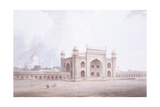 The Gateway of the Taj Mahal, Agra, Uttar Pradesh Giclee Print by Thomas & William Daniell