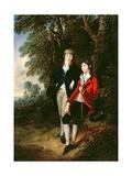 Edward and Thomas Tomkinson, C.1784 Giclee Print by Thomas Gainsborough