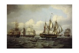 The Ship Castor and Other Vessels in Choppy Sea, 1802 Giclee Print by Thomas Luny