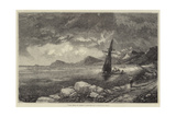 The Wind on Shore Giclee Print by Thomas Creswick