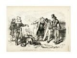 It Is Only a Truce to Regain Power/ Playing Possum, 1872 Giclee Print by Thomas Nast