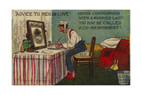 Advice to Men in Love, Never Correspond with a Married Lady! You May Be Called a Co-Respondent Giclee Print by Tom Browne