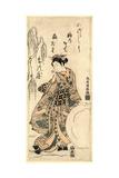 Yukidama O Tsukuru Musume Giclee Print by Torii Kiyomitsu