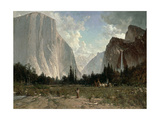 Bridal Veil Falls, Yosemite, C.1870-84 Giclee Print by Thomas Hill