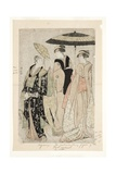 Actors in the Play Oakinai Hiruga Kojima, Nakamura Theater, Xi/1784, 1784 Giclee Print by Torii Kiyonaga
