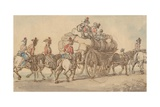 British Army Baggage Wagon and Escort, C.1800 Giclee Print by Thomas Rowlandson
