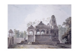A Hindu Temple in the Fort of Rohtas, Bihar Giclee Print by Thomas & William Daniell