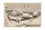Evening Snow at Kambara Giclee Print by Utagawa Hiroshige