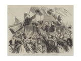 Garibaldi's Entry into Naples, a Sketch in the Strada Di Toledo Giclee Print by Thomas Nast
