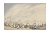 The Return of the Fleet to Great Yarmouth after the Defeat of the Dutch in 1797, C.1797 Giclee Print by Thomas Rowlandson