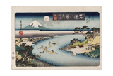 Autumn Moon, Tama River', from the Series 'Eight Views of Famous Places' Giclee Print by Toyokuni II