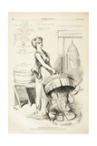 This Tub Has No Bottom to Stand On, 1875 Giclee Print by Thomas Nast