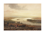 Newcastle Upon Tyne and the River Tyne from Gateshead Giclee Print by Thomas Miles Richardson
