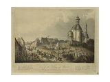 View of the Village of Waterloo Giclee Print by Thomas Sutherland