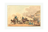 A Cart Race, 1788 Giclee Print by Thomas Rowlandson