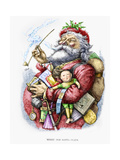 Merry Old Santa Claus, Engraved by the Artist, 1889 Giclee Print by Thomas Nast