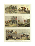 Old Fashioned Sporting Pictures, and the Road in Byegone Days Giclee Print by Thomas Rowlandson
