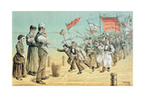 The German Invasion, from 'St. Stephen's Review Presentation Cartoon', 2 October 1886 Giclee Print by Tom Merry