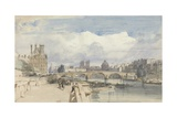 Le Pont Royal, Paris, C.1828 Giclee Print by Thomas Shotter Boys