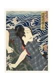 The Actor Kawarazaki Gonjuro I as Ukiyo Inosuke, Later Danjuro Vii, 1862 Giclee Print by Tsukioka Yoshitoshi