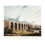 Viaduct across the Sankey Valley, 1831 (Colour Aquatints, Partly Hand-Coloured) Giclee Print by Thomas Talbot Bury