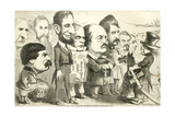 May the Best Man Win! Uncle Sam Reviewing the Army of Candidates, 1864 Giclee Print by Thomas Nast