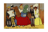 Ma Goes Shopping Giclee Print by Tom Browne