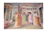 Healing of the Cripple and Raising of Tabitha Giclee Print by Tommaso Masolino Da Panicale