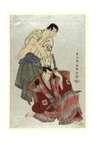 Sandaime Ichikawa Yaozo (No Fuwa Banzaemon To) Sandaime Sakata Hangoro (No Kosodate No Kannonbo) Giclee Print by  Toshusai Sharaku