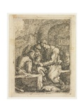 The Card Players Giclee Print by Thomas Wyck