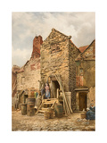 Old Sparrow Hall, Cullercoats Giclee Print by Thomas Miles Richardson