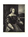 Portrait of Dona Isabella of Portugal, Consort of Charles V Giclee Print by  Titian (Tiziano Vecelli)