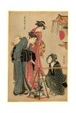 Ueki Fukujuso Uri Giclee Print by Torii Kiyonaga