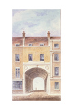 The Improved Entrance to Scotland Yard, 1824 Giclee Print by T. Chawner