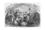 Compromise with the South - Dedicated to the Chicago Convention, 1864 Giclee Print by Thomas Nast
