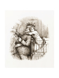 Caught!' Illustration with Santa Claus by Thomas Nast, 1892 Giclee Print by Thomas Nast