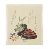 Warrior's Helmet and Azalea for the Boy's Festival Giclee Print by Toyota Hokkei