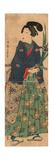 Kakitsubata O Matsu Wakashu Young Dandy Carrying Irises. Taiso Giclee Print by Tsukioka Yoshitoshi