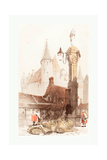 Fish Market, Antwerp, 1839 Giclee Print by Thomas Shotter Boys