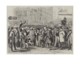 The Crowd at Baltimore Waiting for Mr Lincoln, President of the United States Giclee Print by Thomas Nast