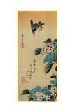 Ajisai Ni Kawasemi Giclee Print by Utagawa Hiroshige