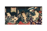 The Kabuki Actors, 1868 Giclee Print by Toyohara Kunichika