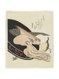 Octopus, Red Tilefish, Pike, Globefish and Crab Giclee Print by Toyota Hokkei