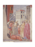 The Distribution of Alms and Death of Ananias Giclee Print by Tommaso Masaccio
