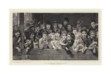 At a French Puppet-Show Giclee Print by Timoleon Marie Lobrichon