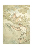 The Hedger and Ditcher Giclee Print by Thomas Rowlandson