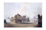 The Mausoleum of Makhdum Shah Daulat, Maner, Bihar, C.1788-1796 (Pencil, Pen and Grey Ink, W/C) Giclee Print by Thomas & William Daniell